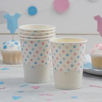 Little Lady Or Mini Mister - Paper Cups (Pack of 8) - Cups Gifts