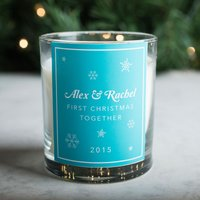 Personalised Scented Candle - First Christmas Together - Candle Gifts
