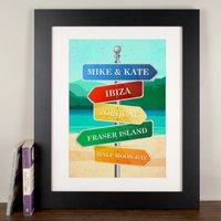 Personalised Print - Beach Sign - Beach Gifts