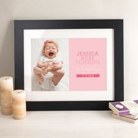 Photo Upload Print - New Baby Red - Baby Gifts
