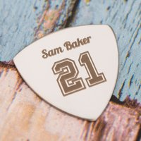 Engraved Guitar Plectrum - 21 - Guitar Gifts