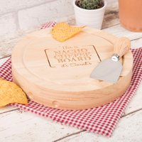 Personalised Wooden Cheeseboard Set - Nacho Cheese Board - Cheese Board Gifts