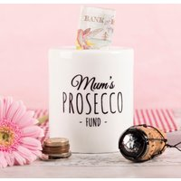 Personalised Ceramic Money Box - Prosecco Fund - Money Gifts
