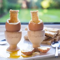 Personalised His and Hers Wooden Egg Cups - Cups Gifts