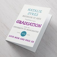 Personalised Card - Congratulations On Your Graduation - Graduation Gifts