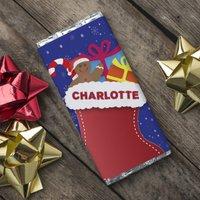 Personalised Chocolate Bar - Christmas Stocking - Christmas Stocking Gifts