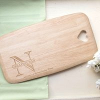 Personalised Colonial Large Chopping Board - N Initial - Chopping Board Gifts