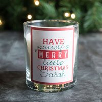Personalised Scented Candle - Merry Little Christmas - Candle Gifts