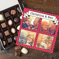 Photo Upload Belgian Chocolates - Polka Dot Scroll - Polka Dot Gifts