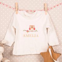 Personalised Baby Long Sleeve T-Shirt - Any Name