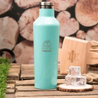 Personalised Corkcicle® Turquoise Canteen - King Of The Mountain - Turquoise Gifts