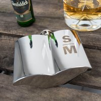 Personalised Dapper Chap Moustache Hip Flask - Initials - Hip Flask Gifts