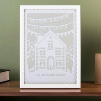 Personalised Papercut Framed Print - Family Home - Decorations Gifts