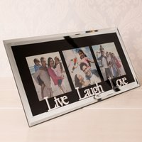 Live, Laugh, Love - Black Glass Photo Frame - Laugh Gifts