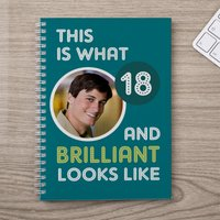 Photo Upload Notebook - 18 And Brilliant - 18th Birthday Gifts