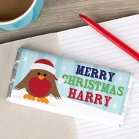 Personalised Chocolate Bar - Ralphy Robin - Robin Gifts
