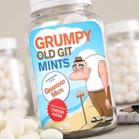 Personalised Mints - Grumpy Old Git - Grumpy Gifts