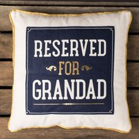Reserved For Grandad Cushion - Grandad Gifts