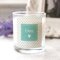 Personalised Scented Candle - Heart - Candle Gifts