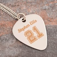 Personalised Guitar Pick Necklace - 21 - Music Gifts