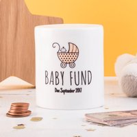 Personalised Ceramic Money Box - Baby Fund - Money Box Gifts