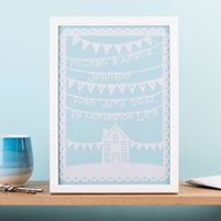 Personalised Papercut Framed Print - New Home - Decorations Gifts