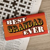 Personalised Chocolate Bar - Best Grandad Ever - Grandad Gifts