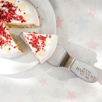 Engraved Silver Slipper Cake Server - Mr and Mrs