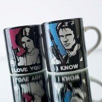 Star Wars® Mini Mug Set of 2 'I Love You, I Know!' - Star Wars Gifts
