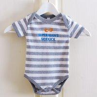 Personalised Striped Baby Onesie - Mask