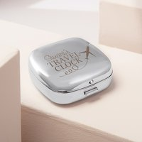 Engraved Travel Alarm Clock With Cover - Plane - Alarm Clock Gifts