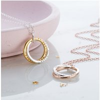 Personalised Posh Totty Designs Interlinking Necklace With Gold