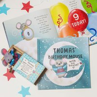 Personalised Birthday Mouse With No House Book - Book Gifts