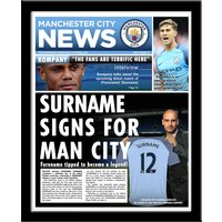 Personalised Manchester City News - News Gifts