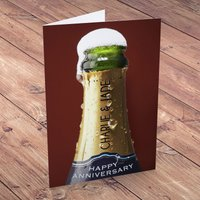 Personalised Anniversary Card - Champagne Showers