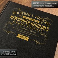 Personalised Derby Country Football Book - Country Gifts