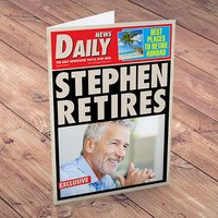 Personalised Card - Newspaper Retired Red Top - Newspaper Gifts