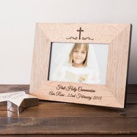 Engraved Wooden Photo Frame - Holy Communion - First Holy Communion Gifts