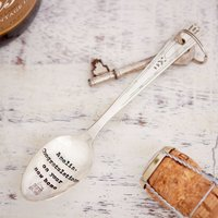 Personalised Silver-Plated Vintage Spoon Key Ring - Key Gifts