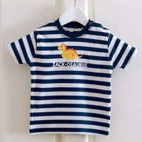 Personalised Baby Striped T-Shirt - Dinosaur - Dinosaur Gifts