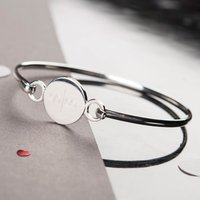 Personalised Premium Silver Disc Bracelet