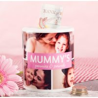 Personalised Ceramic Money Box - Multi Photo Upload - Money Box Gifts
