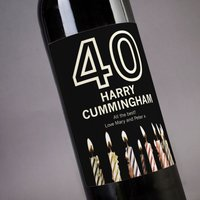 Personalised Wine - 40th Birthday