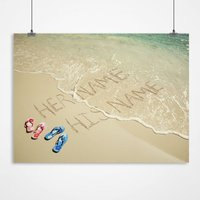 Personalised Print - Sand And Sea - Sand Gifts
