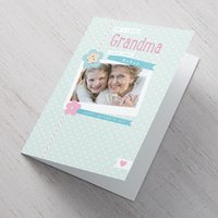 Photo Upload Mother's Day Card - Lovely Grandma - Grandma Gifts