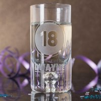 Personalised Shot Glass with Miniature - Certified 18