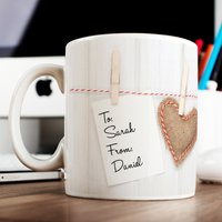 Photo Upload Mug - Washing Line, 3 Photos - Photos Gifts