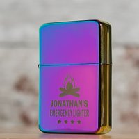 Personalised Rainbow Lighter - Emergency - Lighter Gifts