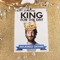 King For The Day Inflatable Crown - Inflatable Gifts