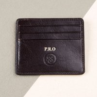 Embossed Marco Slim Italian Leather Credit Card Holder - Italian Gifts